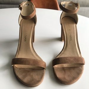 Stuart Weitzman Suede Nearly Nude sandals - Nutmeg